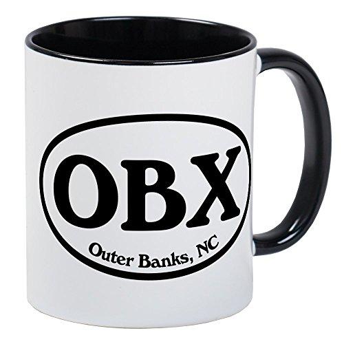 CafePress OBX Outer Banks, NC Oval Mug Unique Coffee Mug, Coffee Cup