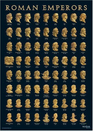 Roman Emperor Busts - Westair Roman Emperors Poster - A3 Size