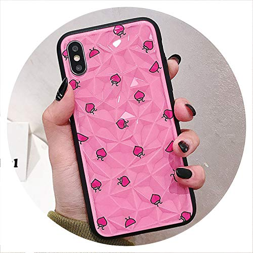 No Buy No Bye 3D Diamond Pattern Case for iPhone 7 case for iPhone X Xs max XR 6 6S 7 8 Plus Summer Fruit Lemon Painted Phone Cases,IK56-ZSWTu03,for iPhone 8plus