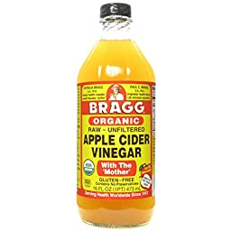 BRAGG VINEGAR APPLE CIDER UNF ORG, 16 OZ