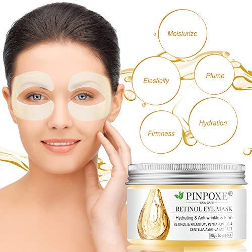 51vFtYqf1IL - Under Eye Pads, Eye Treatment Masks, Anti-Aging Mask, Eye Patches, Natural Eye Mask with Retinol, Anti Aging, Dark Circles and Puffiness, Anti Wrinkle, 50 PCS
