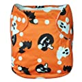 Alva Baby 2pcs Pack One Size Reuseable Washable Printed and Positioning Swim Diapers
