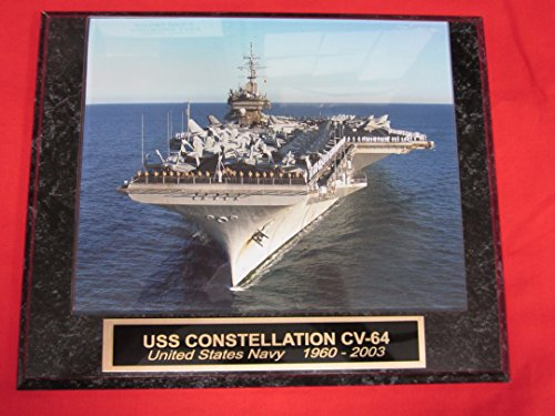 - US Navy USS CONSTELLATION CV-64 Collector Plaque w/8x10 Photo!