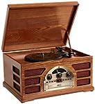 Wooden Retro Turntable 3 Speed AM/FM...