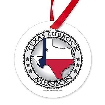 Amazon.com: Unique Xmas Ornament Texas Lubbock Lds Mission State ...