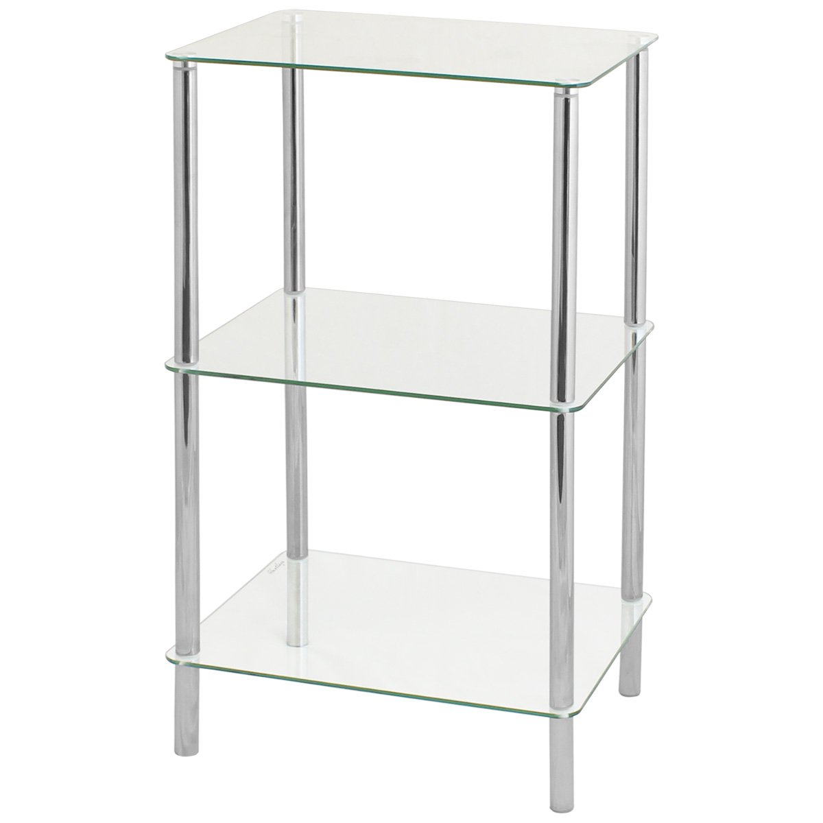 Hartleys 74cm 3 Tier Clear Glass Shelf Unit