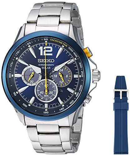 Seiko Quartz Stainless Steel Casual Watch, Color:Silver-T...