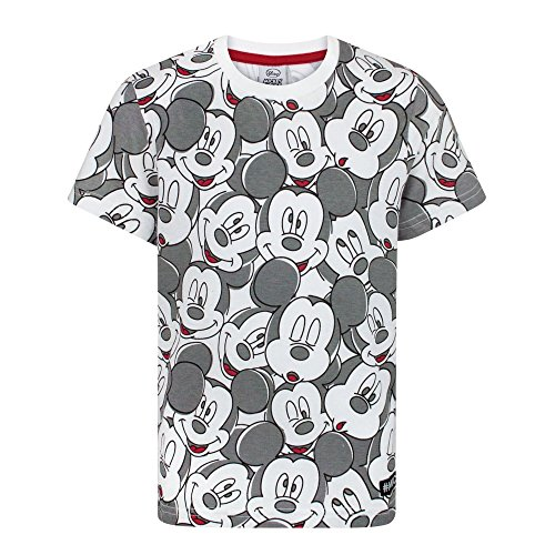 Disney Childrens/Boys Official Mickey Mouse All-Over Face Print T-Shirt