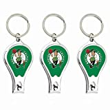 la clipper bottle opener - Worthy Promotional NBA Boston Celtics Nail Clipper with Bottle Opener, Silver, Set of 3