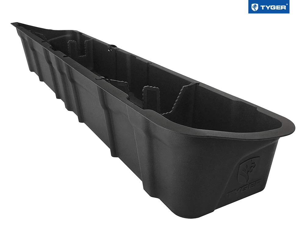 Tyger Auto TG-CB5F2228 for 2015-2018 Ford F150 Crew Cab   Black Textured Rear Underseat Storage Organizer Cargo Box
