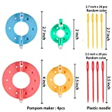 Pompom Maker Kits, 8PCS DIY Different Sizes Pom pom