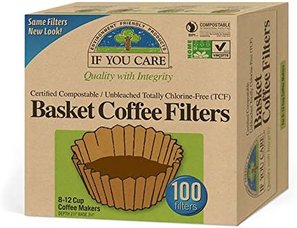 2/x 100/basket Coffee Filters Unbleached Totally chlorine-free by iF you Care