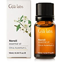 Neroli (Egypt) Essential Oil - 100% Pure, Undiluted, Organic, Natural & Therapeutic Grade for Aromatherapy Diffuser, Health Skin and Relaxtion - 10ml - Gya Labs