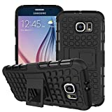 Case Collection Heavy Duty Cover for Samsung Galaxy S6 Case Dual Layer [Drop Protection] Shockproof Armor with Kickstand Feature for Samsung Galaxy S6 Phone Case