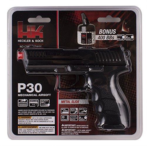 HK Heckler & Koch P30 Spring Powered 6mm BB Pistol Airsoft Gun - Includes 400 BBs (Airsoft Gun Laws In New York State)