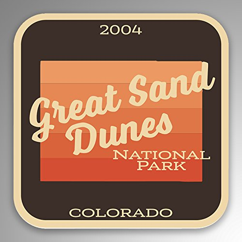 JMM Industries Great Sand Dunes National Park Vinyl Decal Sticker Car Window Bumper 2-Pack 4-Inches by 4-Inches Premium Quality UV Protective Laminate NPS086 ()