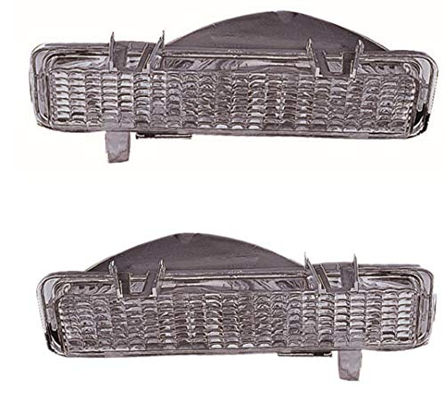 For 1982 1983 1984 1985 1986 1987 1988 1989 1990 1991 1992 1993 Chevrolet Chevy/Gmc S10 | Sonoma Front Parking Signal Light Lamp Driver Left and Passenger Right Side Pair Replacement GM2522129 ()