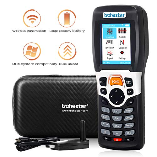 Trohestar Nuberopa N4 PDA Wireless Barcode Scanner 1D 2.4G Portable Inventory Scanner Barcode Data Collector