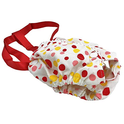 Pictures of FunnyDogClothes Female Dog Diaper With Suspenders COTTON 4