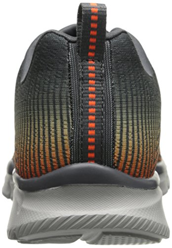Skechers Sport Mens Equalizzatore Gioco Day Training Sneaker Charcoal / Orange