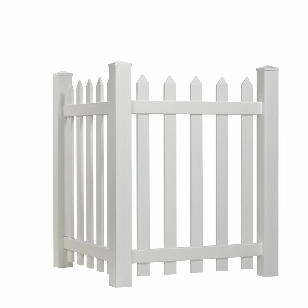 Outdoor Essentials Picket Accent Fence with Spade Shaped Cap, 48 by 43-Inch