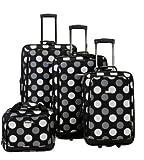 Rockland F105 Luggage Set, Black Dot, One Size, 4-Piece