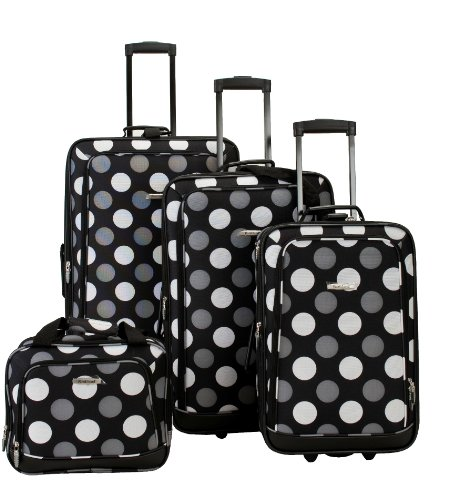 rockland-luggage-dot-4-piece-luggage-set-black-dot-one-size