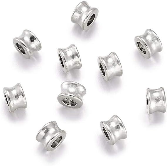 20 Pcs Tibetan Silver Hollow Bails 13mm Jewellery Fit European Bracelet Q155