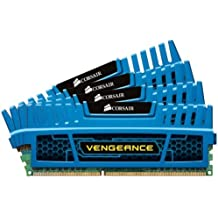 Corsair CMZ16GX3M4A1600C9B Vengeance Blue 16 GB DDR3 SDRAM Dual Channel Memory Kit 1.5V
