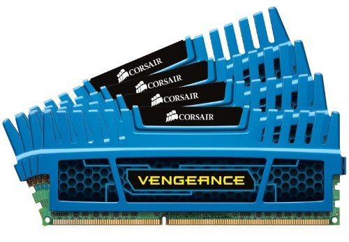 Gold Ddr3 Memory (Corsair Vengeance Blue 16 GB DDR3 SDRAM Dual Channel Memory Kit 1.5V)