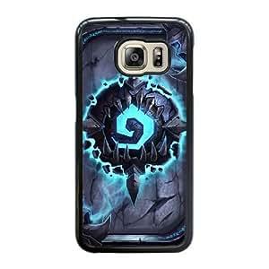 Wunatin Hard Case ,Samsung Galaxy S6 Edge Cell Phone Case Black hearthstone card backs [with Free Touch Stylus Pen] BA-2230360