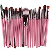 Makeup Brush Set,Han Shi 2017 Fashion 20 pcs 20pcs Make up Brushes Kits Toiletry Kit Clearance (M, Pink)
