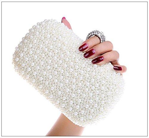 main de main Sac aisselle White Sacs Sac Sac bandoulière Sac de Embrayage à Sac fête à à soirée à de poignet NBWE bandoulière Sac ZfHwqXT