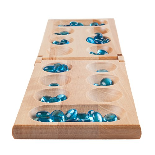 Hey! Play! Wooden Folding Mancala Game Board Game (Mancala Set)