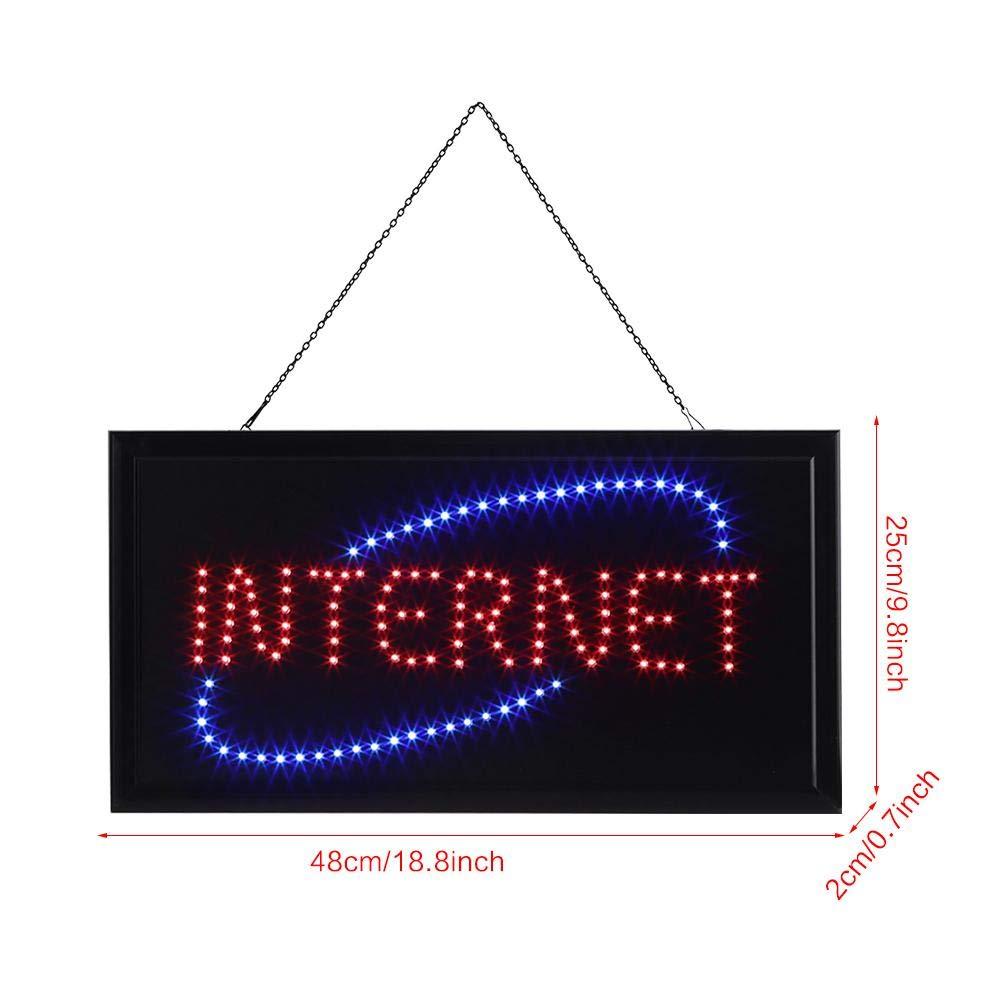 Panneau d/'Affichage LED Lumineux Light Sign pour Vitrine Boutique Caf/és Restaurants Occidentaux Bars KTV Internet GOTOTOP Enseigne Lumineuse /à LED