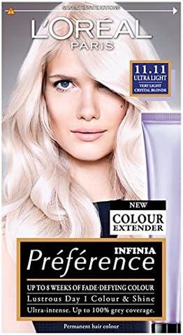 LOreal Recital Preference 11.11 Ultra Light Muy Light Crystal Blonde