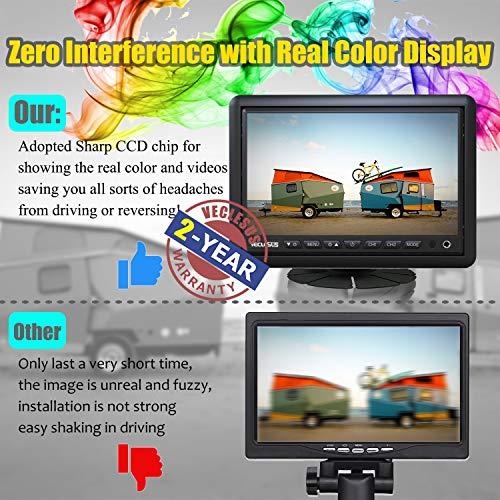 "Backup Camera for Trucks, Two Installation Methods, No Interference, No Delay, 7"" Wide Screen and Night Vision IP68 Waterproof Backup Camera for Box Truck, Bus, Caravan, Camper Van, Boat, Yacht"