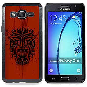 Dragon Tribal Indian Native Red Pattern Caja protectora de pl??stico duro Dise?¡Àado King Case For Samsung Galaxy On5 SM-G550FY G550