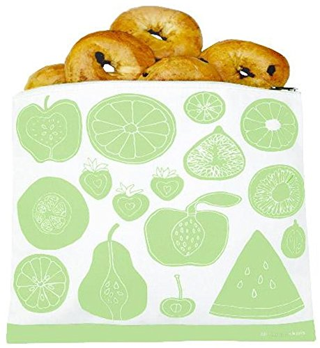 Lunchskins Gallon Fruit Zip Bag, Green by Lunch Skins
