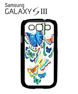 Butterfly Colourful Art Mobile Cell Phone Case Samsung Galaxy S3 White