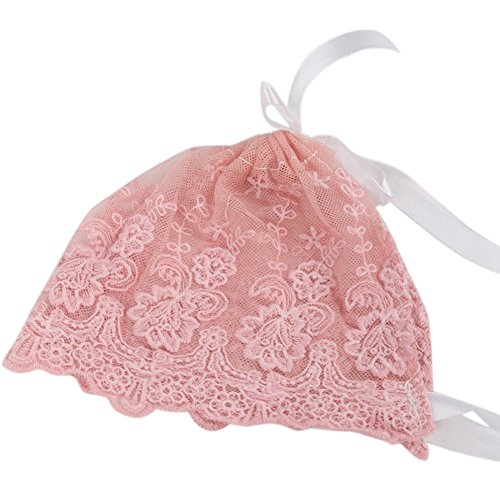 Zebra Baby Infant Newborn Girls Kids Lace Floral Hat Cap Beanie Bonnet Hats Photo Prop (Pink) ()