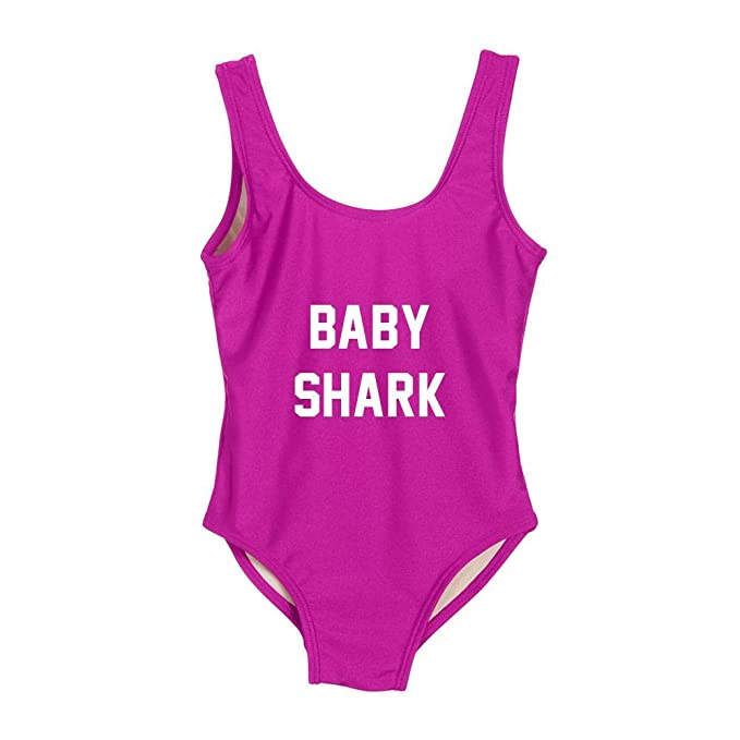 712e5b7b6f Amazon.com: Mommy Shark Classic California One Piece Bathing Suit Baby  Shark Kids ONE Piece Swimsuit: Clothing
