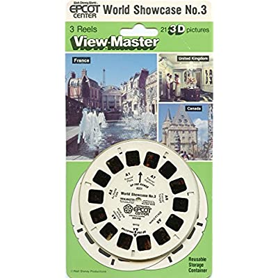 Epcot Center Walt Disney World, World Showcase No. 3 - Classic ViewMaster - 3 reels Set - 21 3D Images - New: Toys & Games