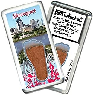 """product image for Shreveport """"FootWhere"""" Souvenir Fridge Magnet. Made in USA (SHV201 - Skyline)"""