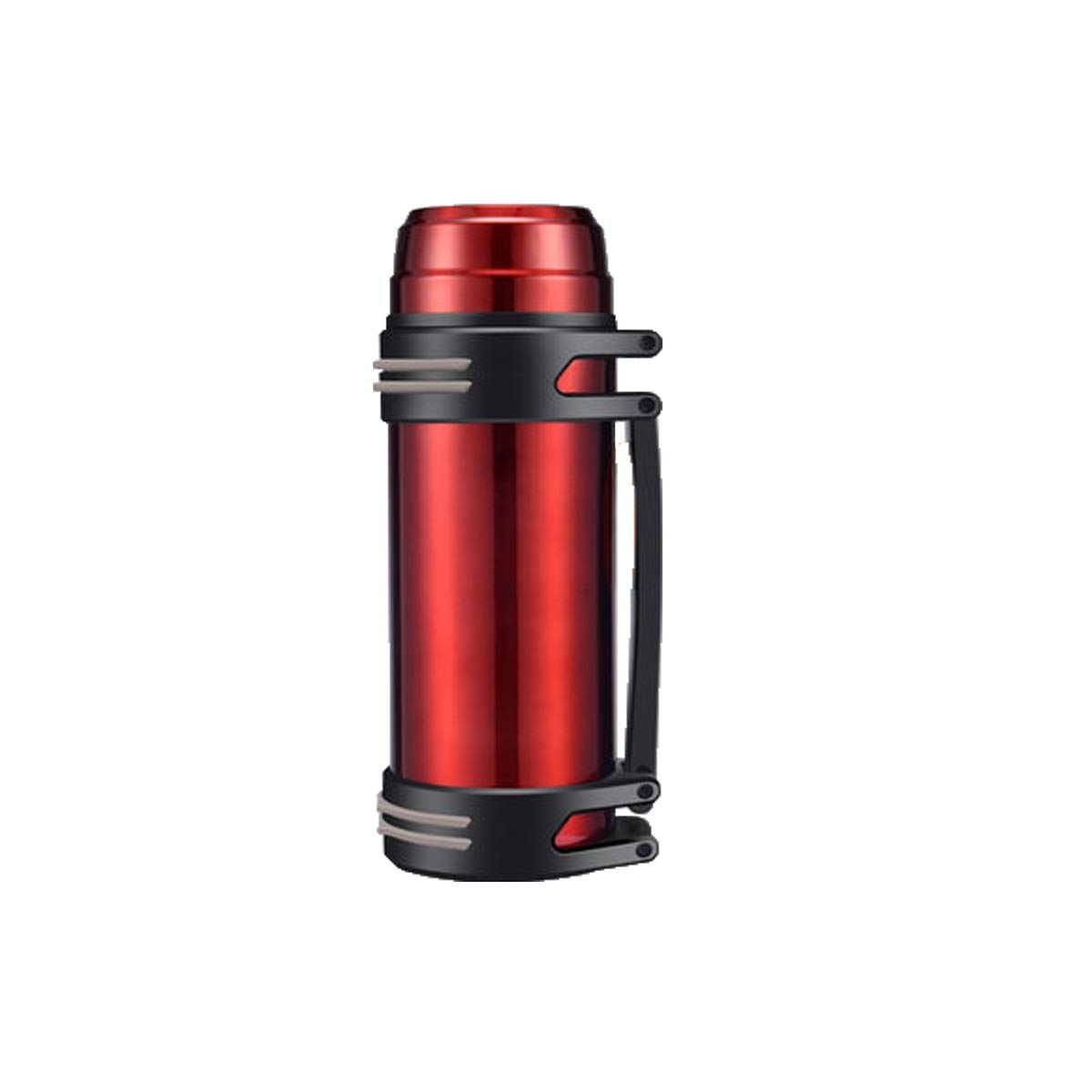 Thermos Cup, Large Capacity Insulation Pot for Men and Women, Thermos Bottle, Outdoor Portable Car Travel Bottle, 2L L 1000ml, Black, Silver, Blue, Red (Color : Red-1500ML)
