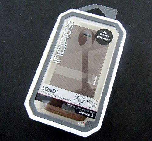 Incipio IPH-884 LGND for iPhone 5-1 Pack - Retail Packaging - Brown