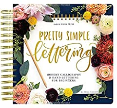Pretty Simple Lettering: Modern Calligraphy & Hand Lettering for Beginners| Paper Peony Press Learn the art of hand lettering with this comprehensive how-to book, full of beauty, knowledge, and inspiration! Pretty Simple Lettering is the ...
