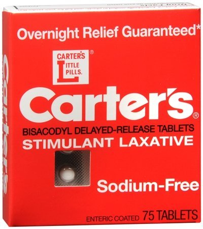 Carters Sodium Free Stimulant Laxative - 75ct (Pack of ...