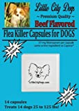 Little City Dogs BEEF FLAVORED Flea Killer Capsules for Dogs – 57 Mg Nitenpyram …compare to Capstar® – 14 Capsules for Dogs 25 to 125 lbs, My Pet Supplies