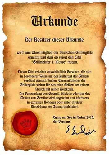 Free Rider Lustige Scherzartikel Motorrad Copper mit Urkunde Coole Sch/ürze